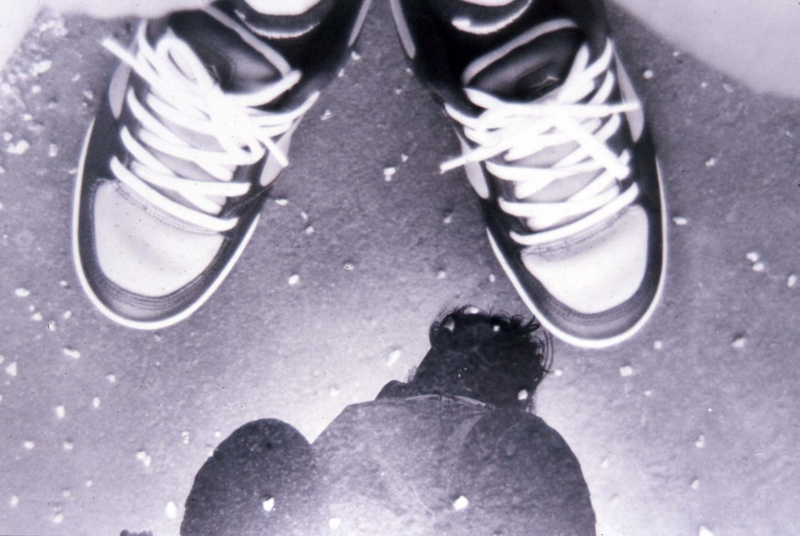 feet and reflection