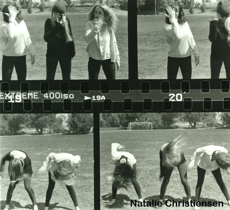 Natalie Christensen multiple frames hair flip girls