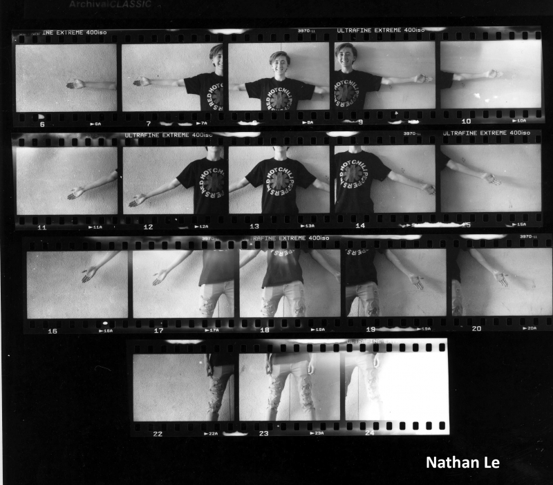 Nathan Le Contact Sheet Print