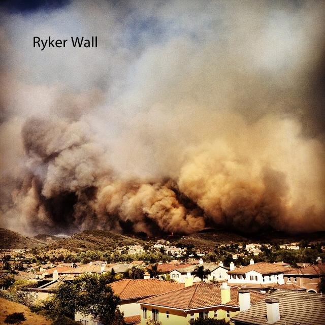 Ryker Wall fire landscape