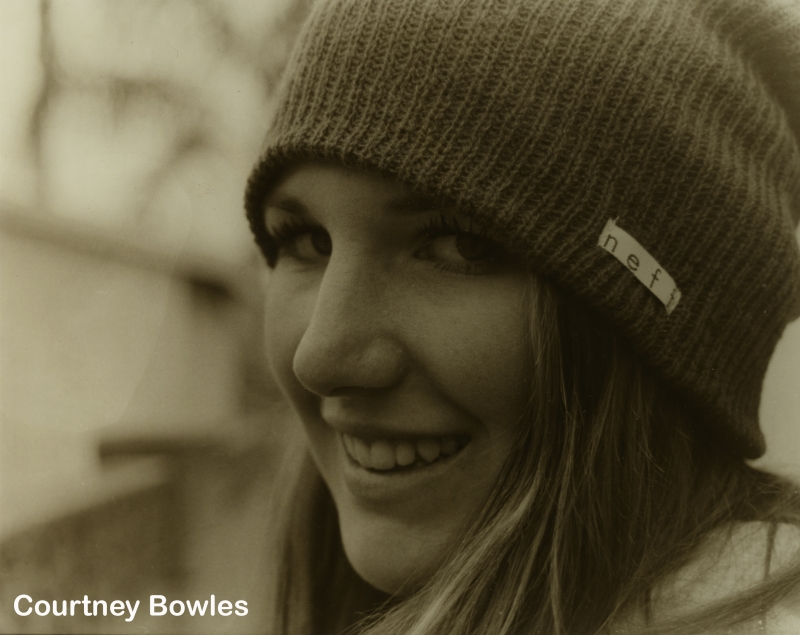 Courtney Bowles sepia tone portrait