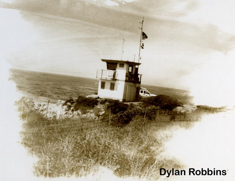 Dylan robbins sepia tone life gaurd tower