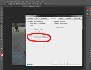 Photoshop camera settings