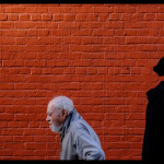 The Painted Brick Wall by Jay Maisel